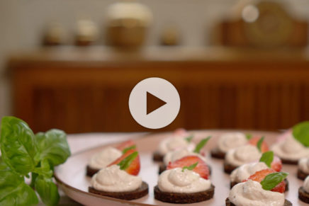 Pumpernickel – Erdbeerfrischkäse