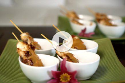 Satayspiesse – Erdnusssauce
