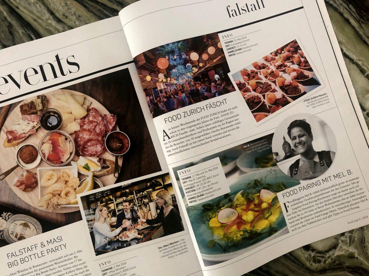 Food Pairing mit Mel B. @ Food Zurich — Beitrag von falstaff